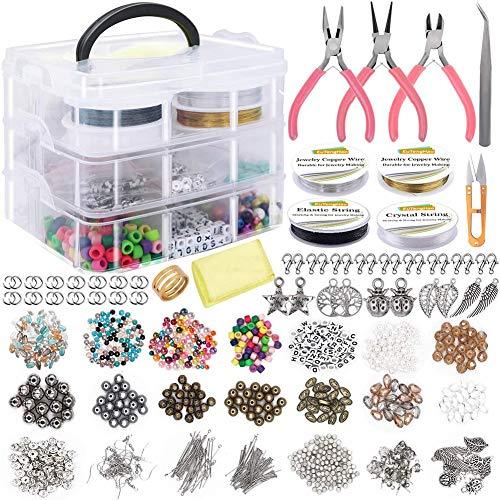 Andifany Kit de Suministros para Hacer Joyas, Calibradores para Hacer y Reparar Collares, Aretes Es un Excelente Regalo para Todos