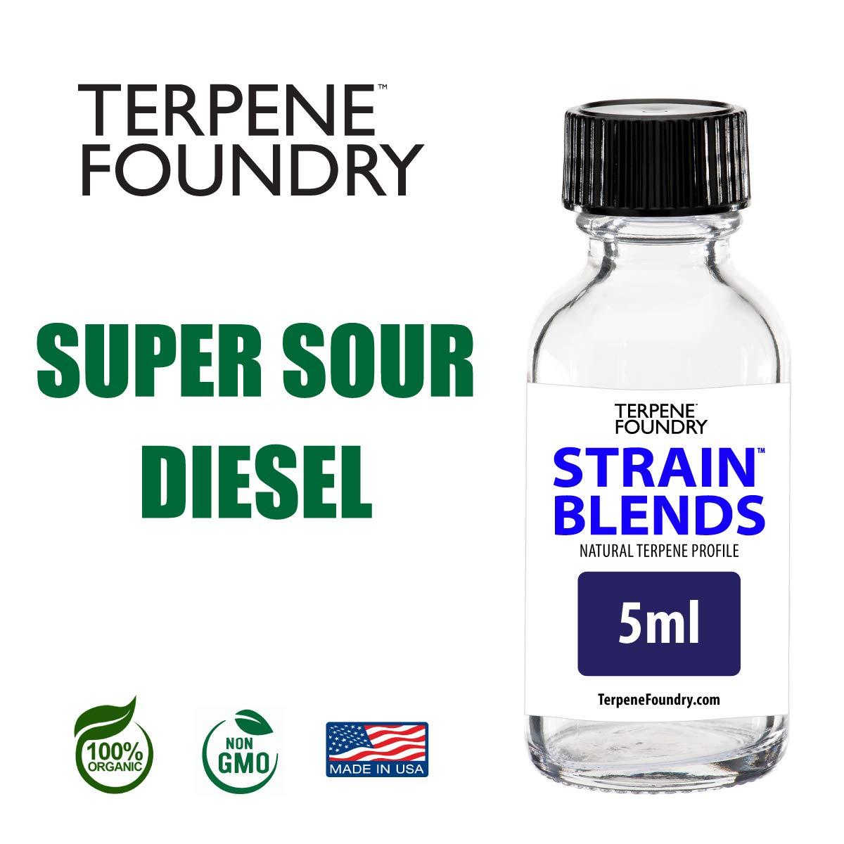 Terpene Foundry   Super Sour Diesel  100% Pure & Organic   Terpene Strain Profile (5mL)