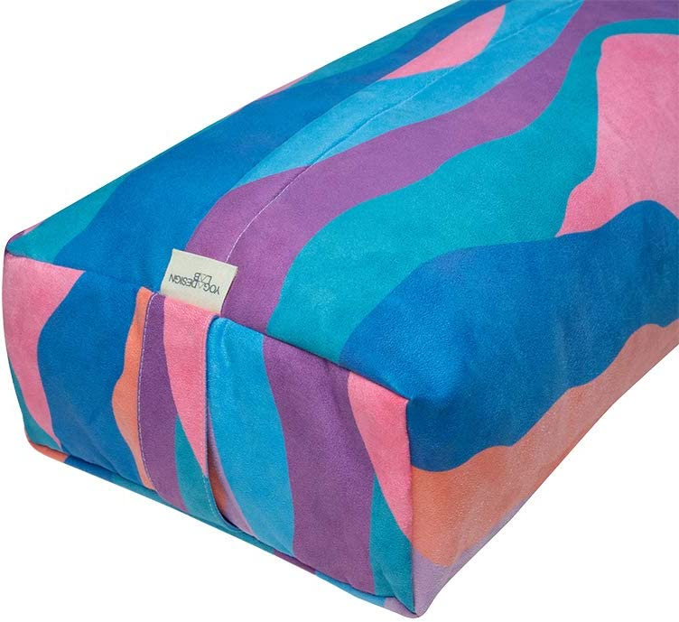 YOGA DESIGN LAB Comfortable Foam Filling Recycled Plastic Bottle Microfiber Supportive Eco-Friendly Luxury Yoga Cushion The Yoga Bolster Natural Cotton