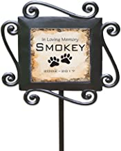 """GiftsForYouNow Personalized Pet Memorial Garden Stake, 28"""" by 8.5"""", Wrought Iron Stake with Decorated Ceramic Tile"""