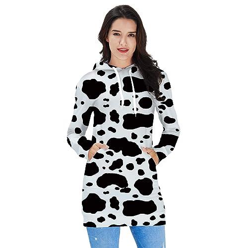 edd9bbc9643 Ahegao Women s Hoodie Dress Ugly Christmas Sweater Tunic Pullover 3D  Printed Casual Long Sleeve Girls Sweatshirts