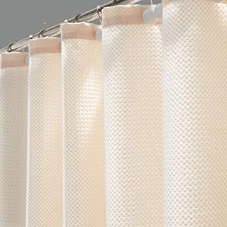 Hanhao Shower Curtain of Dobby Texture with Rustproof Metal Grommets and Weighted Bottom Hem for Bathroom and Bathtub (Waf...