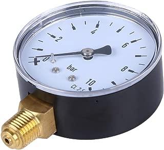 Homyl 0-10bar Manom/ètres de Pression Mini-cadran Compresseurs dAir M/ètre Jauge de Pression Hydraulique