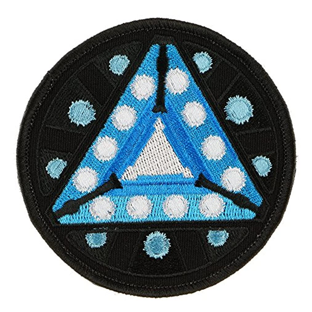 LiZMS Tactical Patch : The Arc Reactor Star IRONMAN - Hook and Loop Fasteners