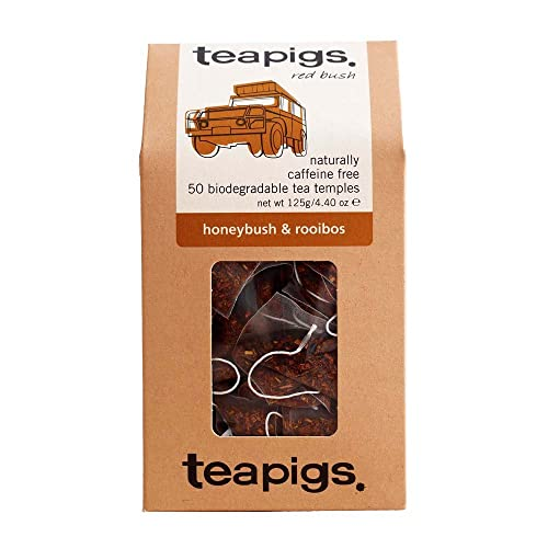 teapigs honeybush & rooibos 50 tea temples