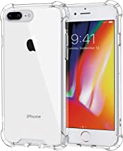 MoKo Cover Compatible for iPhone 7 Plus Case/iPhone 8 Plus Case, Reinforced Corners TPU Bumper Cushion + Hybrid Rugged Transparent Panel Cover for Apple iPhone 7 Plus / 8 Plus - Crystal Clear