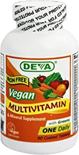 Vegan Multivitamin & Mineral Iron Free 90 Tabs
