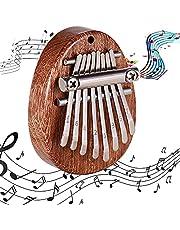 Tummen piano, bärbar kalimba, mini kalimba tumpiano, nycklar Kalimba, träfinger piano, ficka tummpiano, mahogny 8 nycklar mini portabel fingerslag för barngåva, musiknybörjare