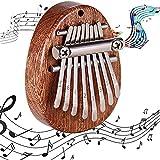 Piano de Pulgar, Kalimba Portátil, Instrumento Piano Dedo, Kalimba 8 Teclas, Mini Piano...