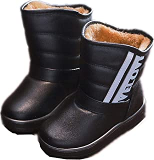 Kids Warm Snow Boots Outdoor Winter Boots for Children Slip on Boots