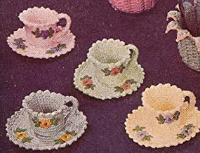 Vintage Crochet PATTERN to make - Crocheted Teacups Nut Cups Candy Dish. NOT a finished item. This is a pattern and/or instructions to make the item only.