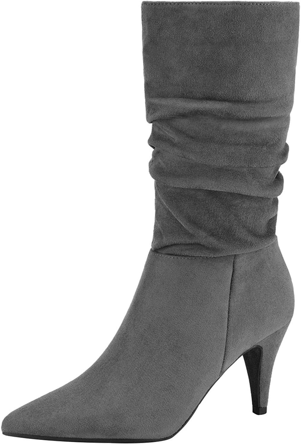 DREAM PAIRS Women's High Mid Boots 70% OFF Outlet Calf Max 79% OFF Heel