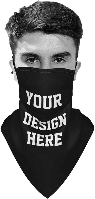 Custom Personalized Neck Gaiter Face Mask Reusable