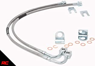 Rough Country 89702 Extended Stainless Brake Lines Front compatible w 1987-2006 Jeep Wrangler TJ YJ / 84-01 Cherokee XJ 4-6