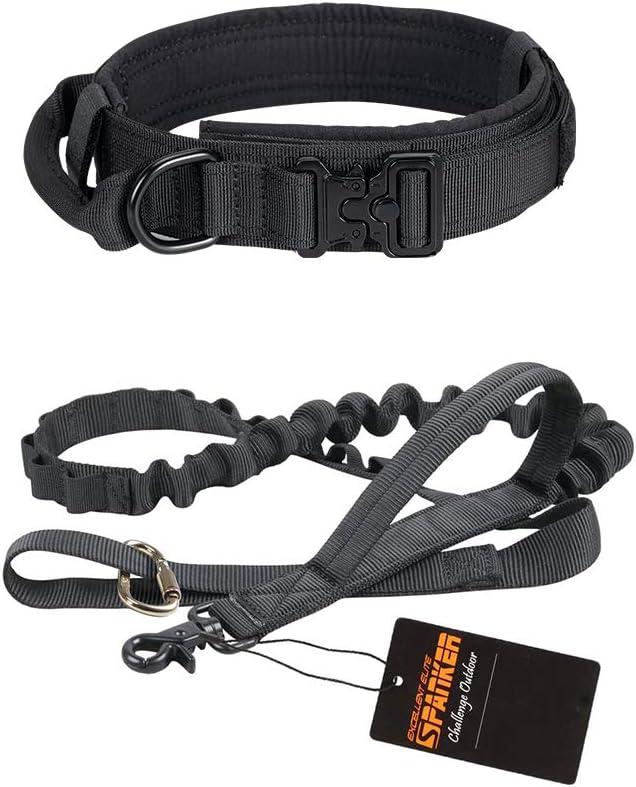 Medium Size National uniform free shipping Tactical Dog Collar Ta Adjustable Max 86% OFF Metal Buckle Nylon