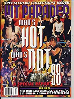 Hit Parader Magazine WHO'S HOT... WHO'S NOT Nine Inch Nails MARILYN MANSON Green Day VAN HALEN Kiss AC/DC March 1998 C