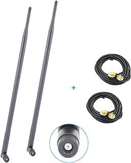 Apirit 2x9dBi 2.4GHz 5GHz デュアルバンド WiFi RP-SMA アンテナ + 2x10フィート RP-SMA 延長ケーブル ルーター Asus PCE-AC66 RT-N16 RT-AC68R RT-AC68U Asus RT-N16 RT-N66U D-Link DIR-655 Buffalo WHR-HP-G300N用