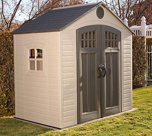 *Lifetime Kunststoff Gerätehaus Garten Kompakt 244x153cm; Gerätehaus Kunststoff Gartenhaus Kunststoff inkl. Fenstern*
