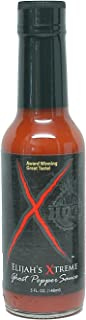 Elijah's Xtreme Ghost Pepper Hot Sauce, Ultimate Gourmet Hot Pepper Sauce with Extreme Fiery Heat (5 oz)