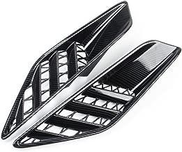 Justautotrim Carbon fiber look Cover trims Accessories Rear Side Body Vent for 2014 2015 2016 2017 2018 Chevrolet Corvette C7