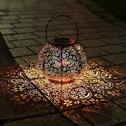 Infankey Solar Lantern Outdoor Hanging Lights Decorative Garden Lights IP65 Waterproof Metal product image