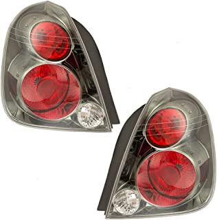 Driver and Passenger Taillights Tail Lamps with Dark Chrome Trim Replacement for Nissan 26555ZB025 26550ZB025