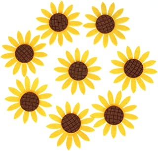WinnerEco 10pcs Peacock Eye Embroidered Cloth Iron On Patch Sew Motif Applique (Sunflower)