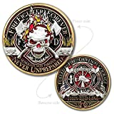 Thin Red Line Firefighter Forever Challenge Coin