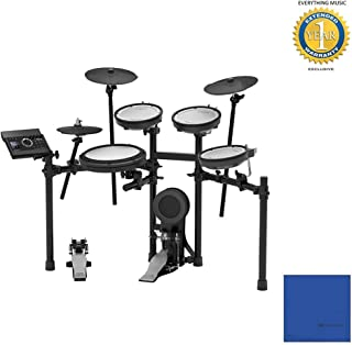 Roland TD-17KV V-Drums Electronic Drum Set with Microfiber and 1 Year Everything Music Extended Warranty