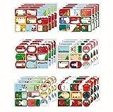 Noël Auto-adhésif Cadeau Autocollants, Autocollants d'étiquette de Noël, Étiquettes autocollantes de Noël , Étiquettes de Noël Stickers