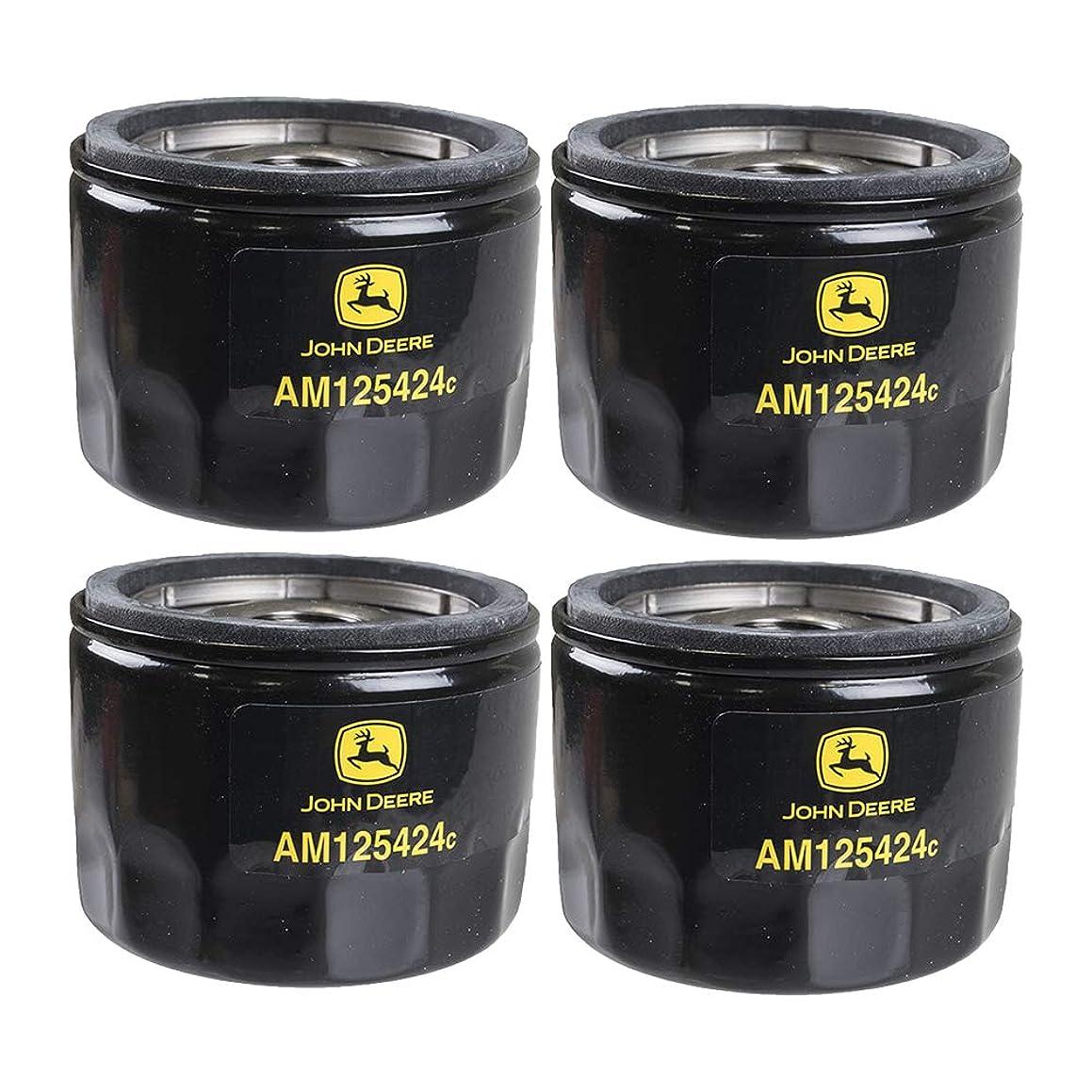 John Deere Original Equipment Oil Filter #AM125424 (Qty 4)