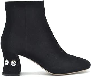 MIU MIU Luxury Fashion Womens 5T660CXV4F0002 Black Ankle Boots | Fall Winter 19