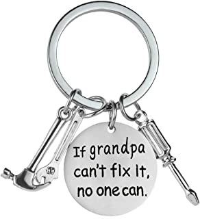 If Grandpa Can't Fix It No One Can Screwdriver Wrench Hammer Key Chain Ring Tool Charms Keychain Men Gift for Grandpa