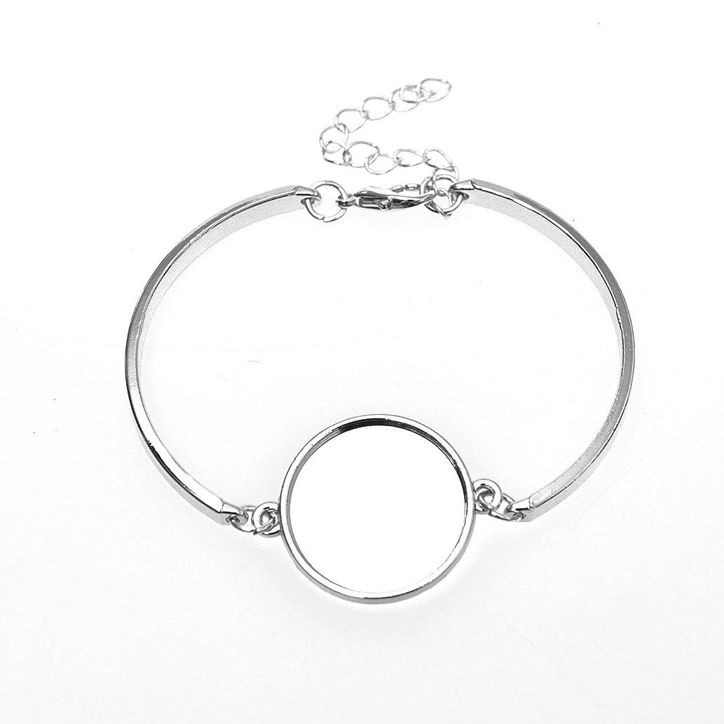 Monrocco 10 pcs Round Cabochon Bracelet Blanks Bangles Bracelets Fit 20mm Round Cabochon