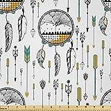 Lunarable Boho Stoff von The Yard, Traumfänger-Stil Pfeile