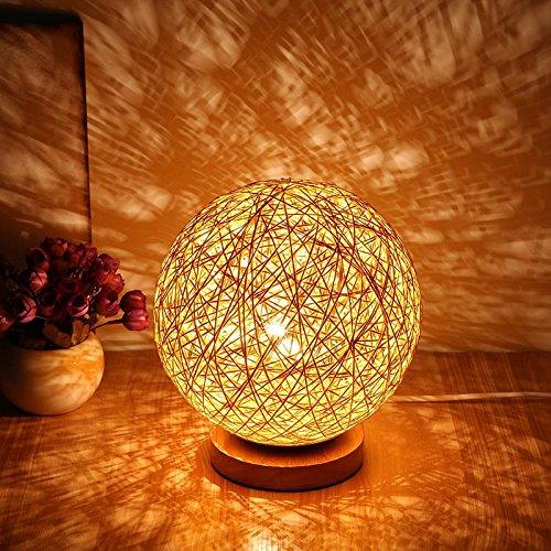 BALALALA Für Rattan Ball Stil Energiesparende Nachtlicht Lampenschirm Home Esszimmer Dekoration...