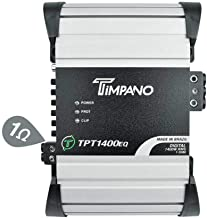 $169 » Timpano 1 Channel TPT1400EQ Compact Car Audio Amplifier - 1400 Watts at 1 Ohm - 12 Volts Full Range Class D Small Sized Mo...