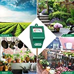 Soil Moisture Meter, S10 Soil Test Kit, Dr.meter Moisture Meter for Plants, Plant Water Meter for Garden Lawn Farm… 10 ▶ 【Compact & Portable】 Have you been sticking your finger in the soil hoping to feel when it's time to water? Why not eliminate the guesswork and keep your hands clean when you use the Dr.meter Soil Moisture Sensor Meter! Know the right time to water your garden, farm, lawn and plants, anytime. ▶ 【Easy to Read】No experience required--while this machine is sophisticated, it's not complicated! With an interface using ten scales and a color-coded reading system from red, green to blue, it's never been more straightforward reading your soil moisture. ▶ 【No Batteries Required】Who needs batteries or electricity? Just plug stick it into the ground and get a reading in no time!