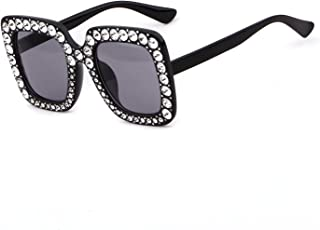 Oversized Sunglasses For Women Square Sunglasses With Rhinestone