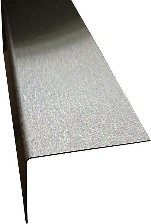Edelstahl Kantenschutz 2000mm 40x10 mm K240 geschliffen V2A 0,8mm stark Winkelblech Kantenschutz,kreativ bauen 200cm Eckschiene L-Profil Schenkel 4x1cm