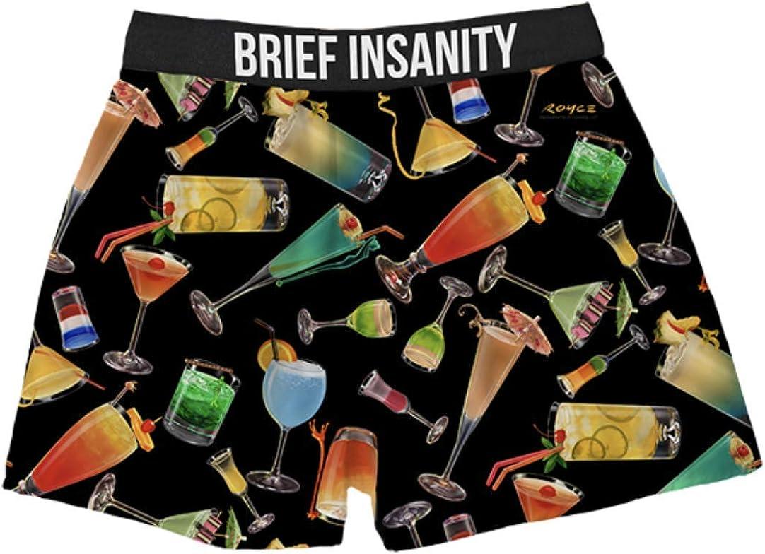 Boxer Night Shorts Men/Women (S-XXL) - Comfy, Loose Fit Sleepwear Underwear - Fun Cocktail Drink Lounge Shorts
