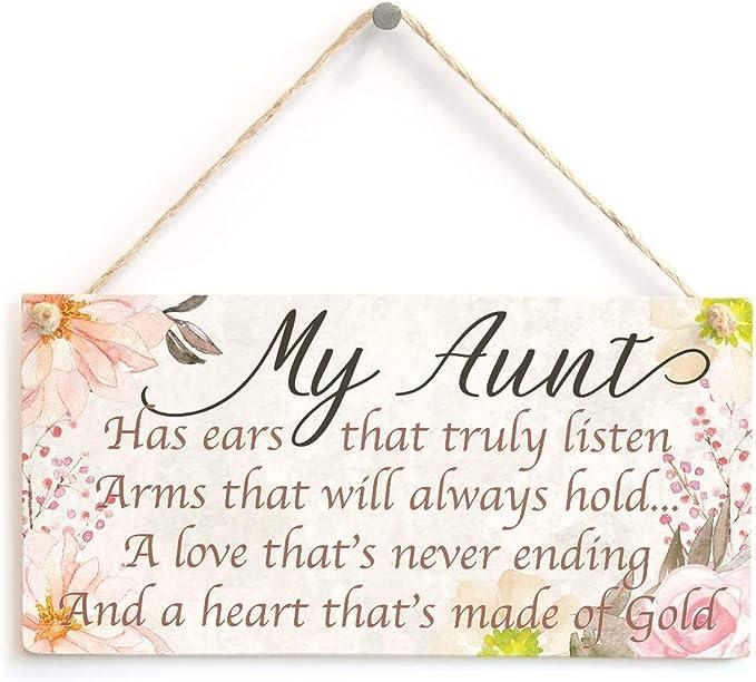 Dadaly Decor Aunt Sign My Aunt Plaque for Aunt Birthday