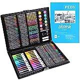 PEDY 164 Pezzi, Comprende Pastelli, Matite Colorate Set d'arte per Disegnare e Dipingere, Set di Pittura per Bambini, Artisti Dilettanti, Incluso Album…