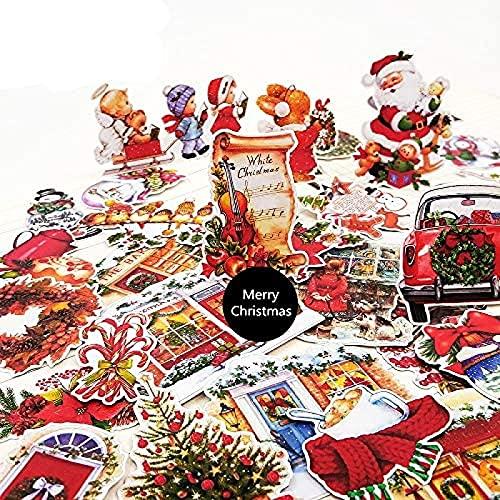 JZLMF 30 pegatinas de Navidad para manualidades y álbumes de recortes, pegatinas de juguetes para niños, decoración de libros