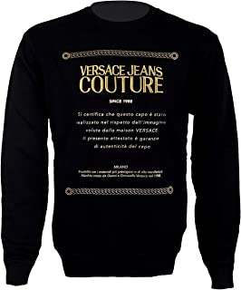 Jeans Couture Warranty Logo Print Sweat Top in Black
