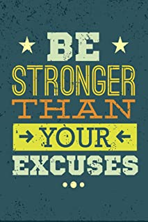 Workout Posters for Home Gym Be Stronger Than Your Excuses Motivational Quote Motivational Quote Cool Wall Decor Art Print Poster 12x18