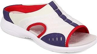 Easy Spirit Women's, Traciee2 Sandal White Blue RED 9 W