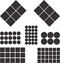 BESROY Antislip meubelonderlegger, 186 antislip pads van celrubber, vilten onderlegger, 8 maten, meubelglijders voor meube...