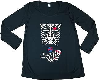 Long Sleeve Baby Los Angeles LA Basketball Sports Mom Maternity DT T-Shirt Tee