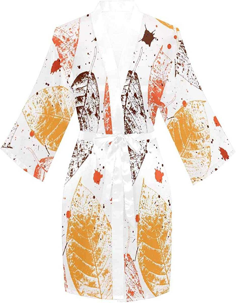 InterestPrint Super popular specialty store Long Sleeve Max 83% OFF Robe with Sleeves Bathrobe for Kimono